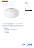 Spécifications Philips myLiving LED plafonnier Wawel blanc 38cm