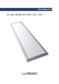 Data sheet Lumego SIRIUS LED Panel silber 120x30cm