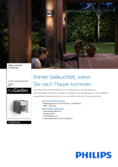 Data sheet Philips myGarden IR-wall lamp Grass 2x4,5W anthracite