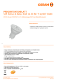 Data sheet Osram LED STAR+ PAR16 50 36° 5W GU10 4000K + 2700K