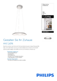 Data sheet Philips myLiving Ayr pendant light