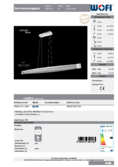 Data sheet WOFI lampe suspendue VANNES 127cm Touchdimmer