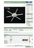 Data sheet WOFI ceiling light HORTON