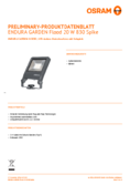 Hersteller Datenblatt Osram ENDURA GARDEN Flood 20W 830 SPIKE