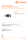 Hersteller Datenblatt LEDVANCE Battery LED-Spotlight Double schwarz