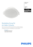 Data sheet Philips myLiving LED-Downlight Meson 3000K white 9,5cm