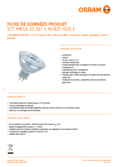 Spécifications Osram LED SST DIM MR16 35 36° 5W 827 GU5.3