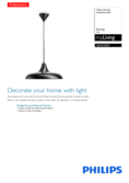 Spécifications Philips myLiving Surrey Lampe suspendue Noir