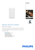 Data sheet Philips Hue dimmer switch