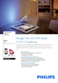 Hersteller Datenblatt Philips Friends of hue Bloom