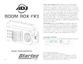 User manual ADJ LED Boom Box FX3