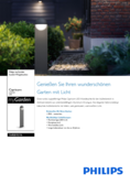 Data sheet Philips myGarden outdoor lamp Capricorn 6W anthracite
