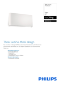 Spécifications Philips myLiving lampe murale Galax 21cm blanc