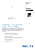 Spécifications Philips hue Cher LED lampe suspendue blanc