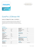 Data sheet Philips CorePro R7S 118mm 14-100W 830 DIM