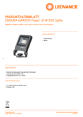 Hersteller Datenblatt LEDVANCE ENDURA GARDEN Flood 10W 830 SPIKE