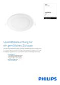 Data sheet Philips myLiving LED-Downlight Hadron round white
