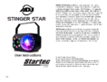 User instruction ADJ Stinger Star