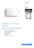 Spécifications Philips myLiving Celadon lampe murale
