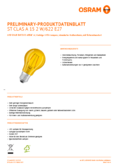 Spécifications Osram LED SUPERSTAR CLA 15 DécorYellow non-dim  2W 827 E27