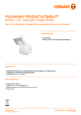 Hersteller Datenblatt Osram Battery LED-Spotlight Single weiß