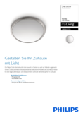 Data sheet Philips myLiving ceiling light Circle steel brushed