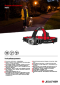 Data sheet LED LENSER® H6R Head lamp, black