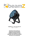 Instruction manual BeamZ LED FlatPAR 12 x 3W Tri IR
