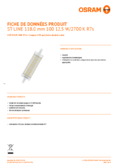 Spécifications Osram LED STAR  LINE 118  HS 100 non-dim  12,5W 827 R7S 118mm