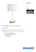 Data sheet Philips myLiving Limba Table Lamp 40W
