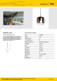 data sheet SLV PANTILO 20 PD E27 pendant chrome