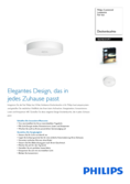 Data sheet Philips hue Fair LED ceiling light white