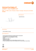 Spécifications Osram Smart+ Flex 2P RGBW extension