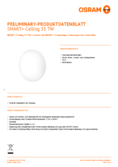 Data sheet Osram Smart+ Ceiling TW 33cm