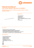 Hersteller Datenblatt LEDVANCE LED Switch Batten 0.3 4W 840