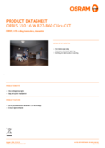 Data sheet Osram ORBIS 300mm 16W CCT Clickswitch